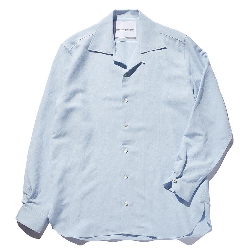 Chad Prom Linen & Rayon Shirt Sky blue