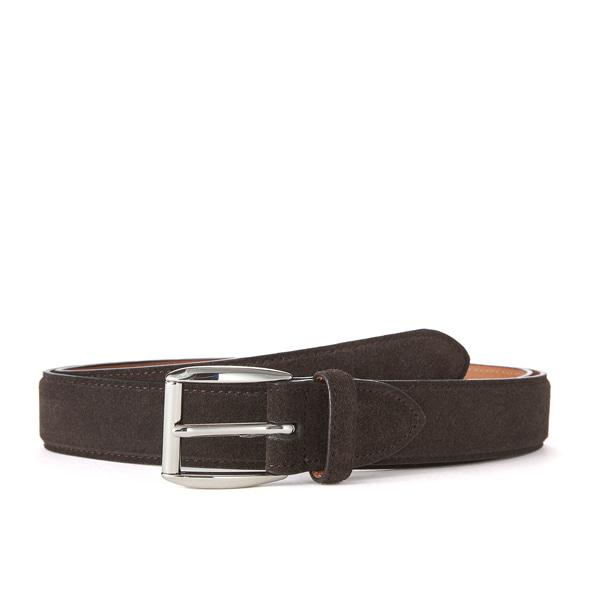 Dk brown Suede Belt (Silver Belt)
