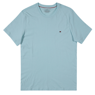 [09T3139]TOMMY TOMMY Core Flag Crew T-Shirt-POOL BLUE