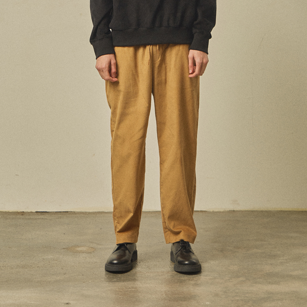 corduroy banding pants [regular fit]_beige