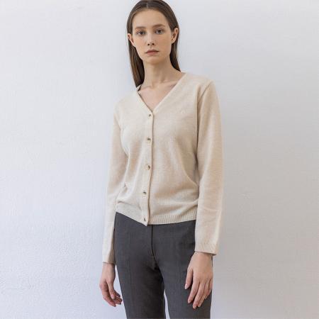 Cashmere cardigan (ivory)