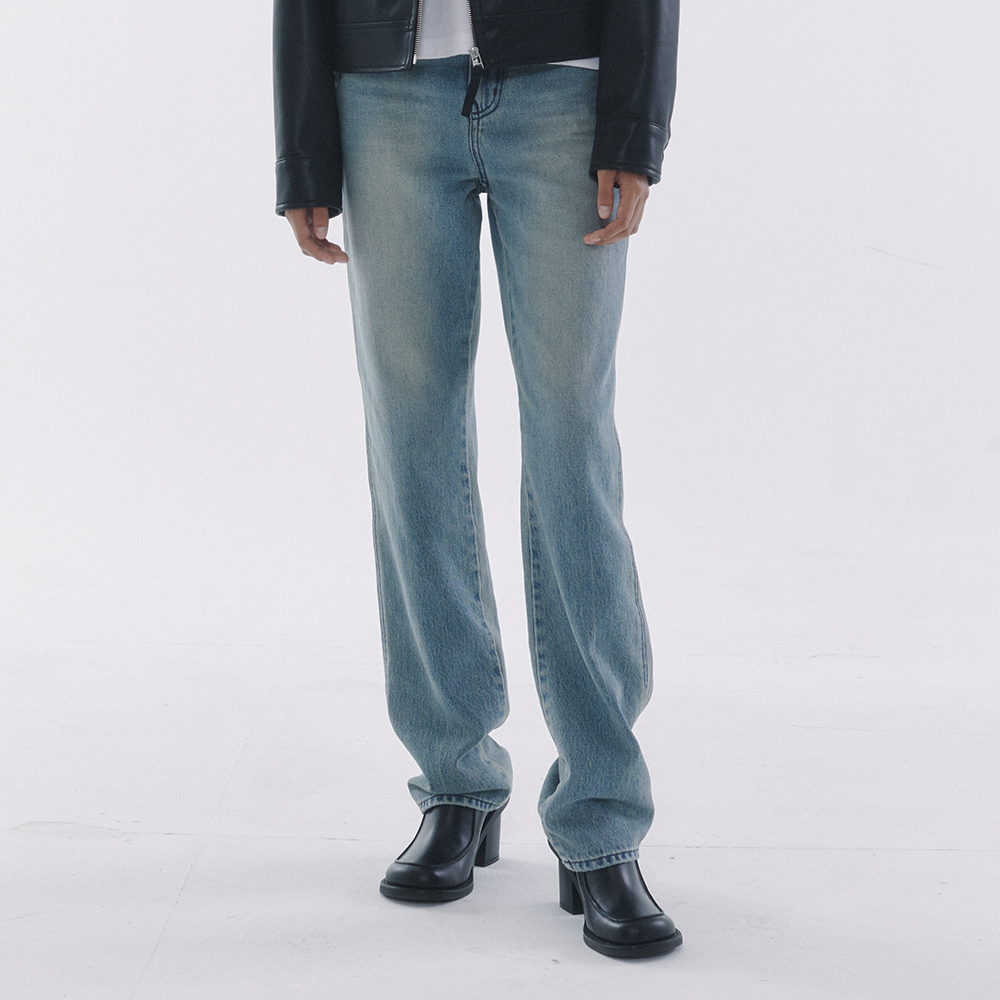 Relaxed Washed Jeans Sand Blue