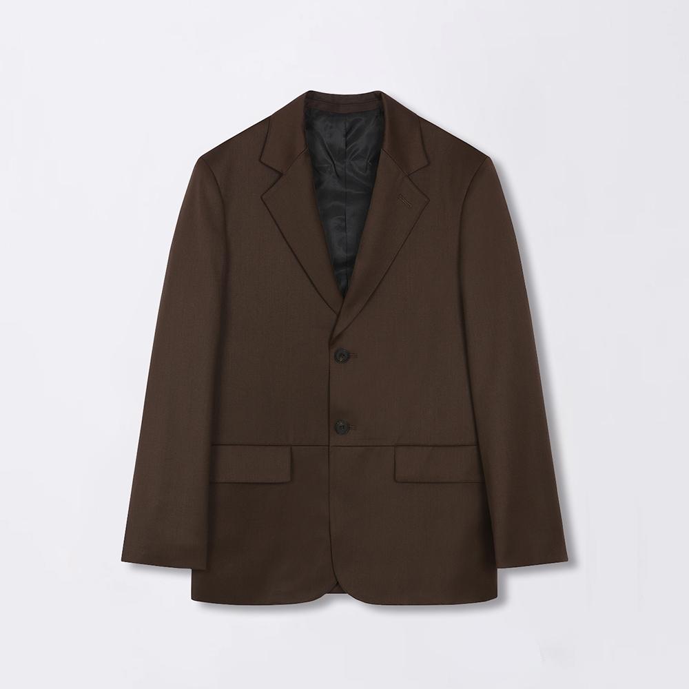 Semi oversized Saddle brown wool jacket