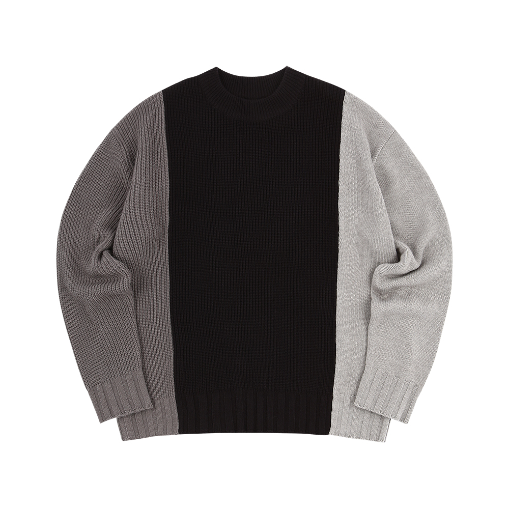 THREE PANELLED GREY SWEATER