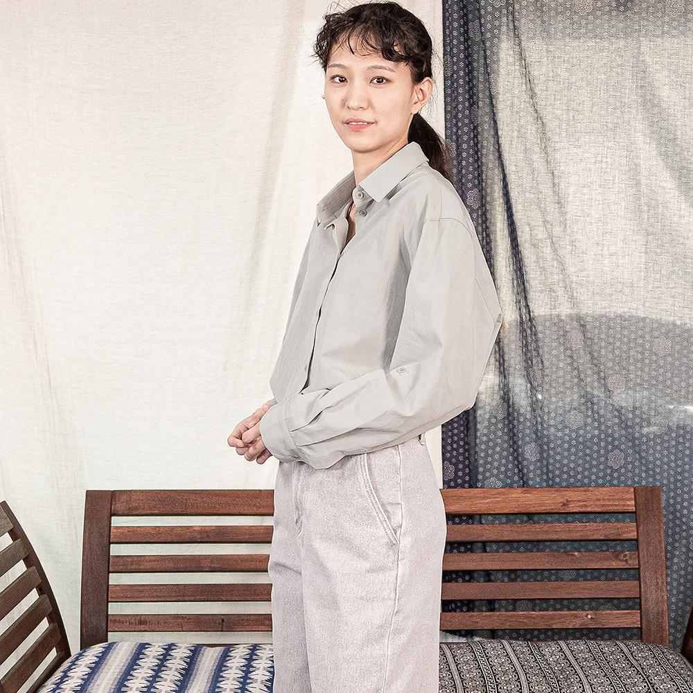 Rollup Shirts - Mint Gray