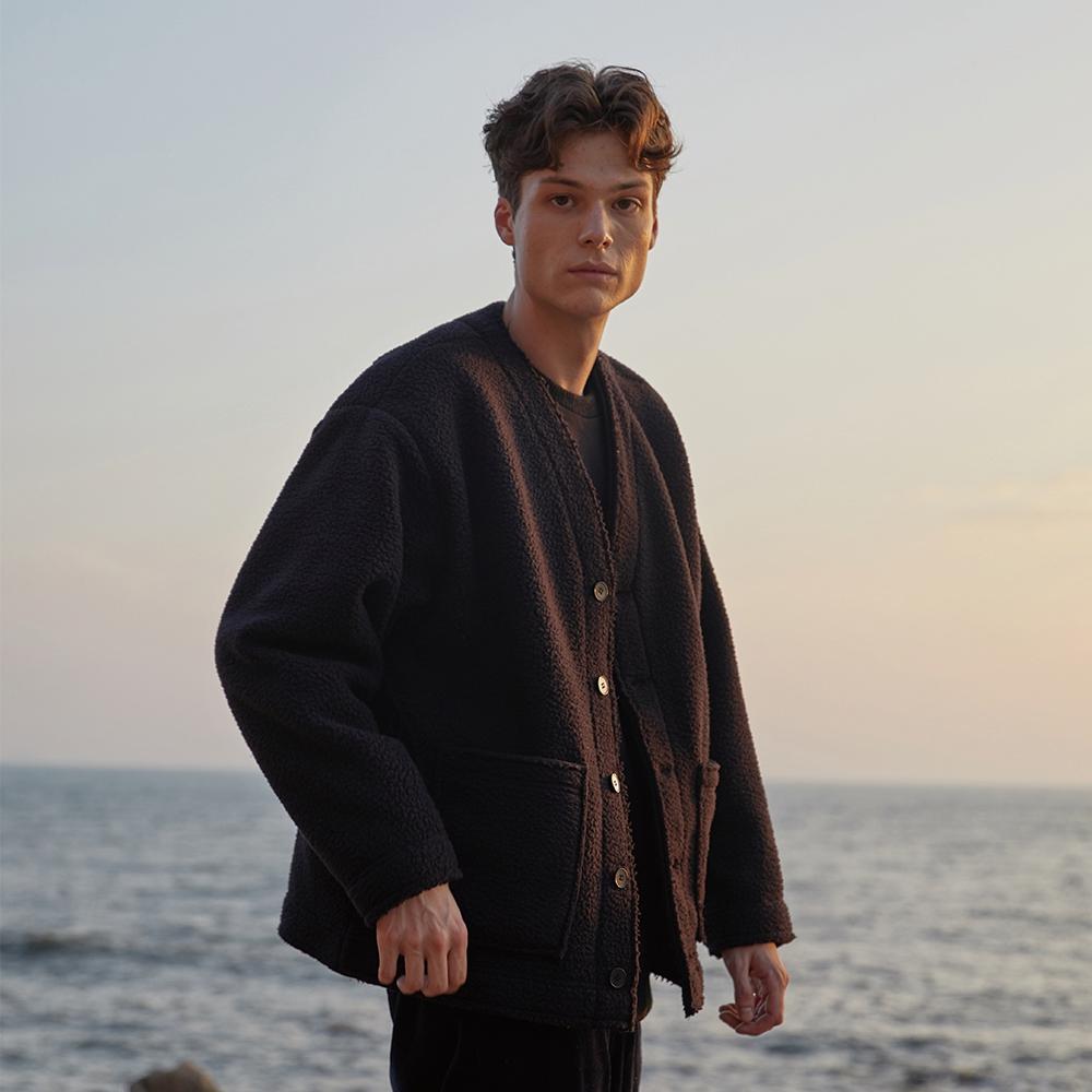 [2차 리오더]Fleece Outer Cardigan_BLACK