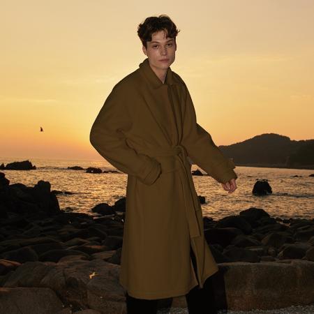 Fleece Balmacan Coat_CAMEL