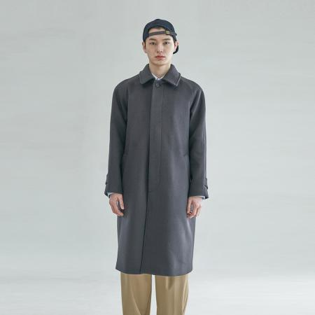 [OCO 단독] Balmacaan Silhouette Coat_Dark Grey