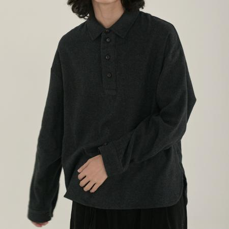 unisex napping henly neck shirts charcoal