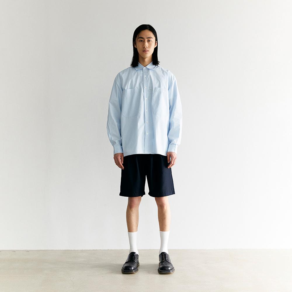 Cotton two pocket shirt Sky blue