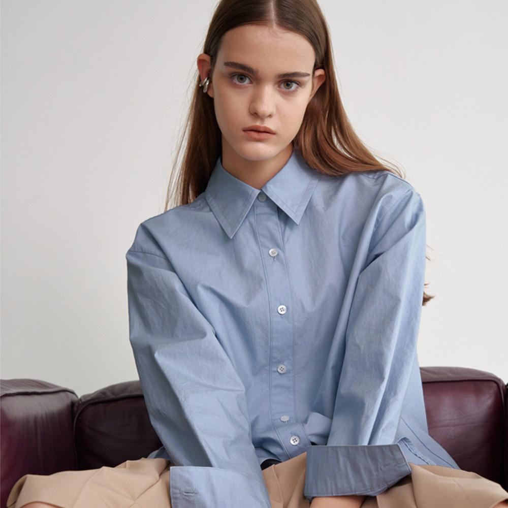 overfit powder blue shirt