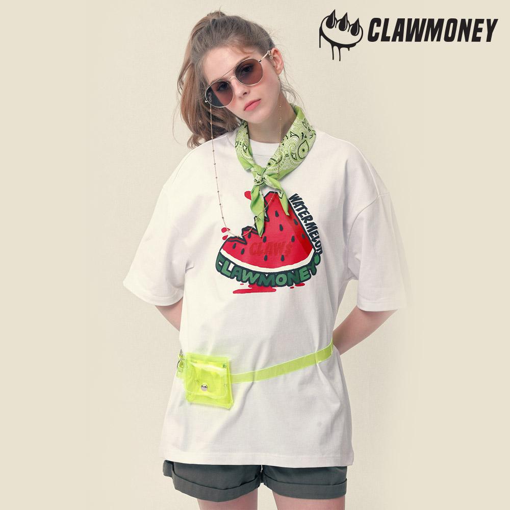 [리퍼브/미세부분이염] 클라우머니 워터멜론 티셔츠 WH