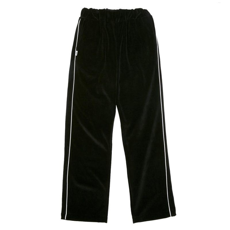 PL025_LOGO VELVET TRAINING PANTS_Black