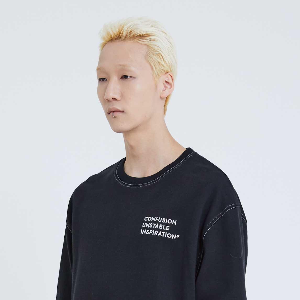 C.U.I Stich Sweatshirts(Black)