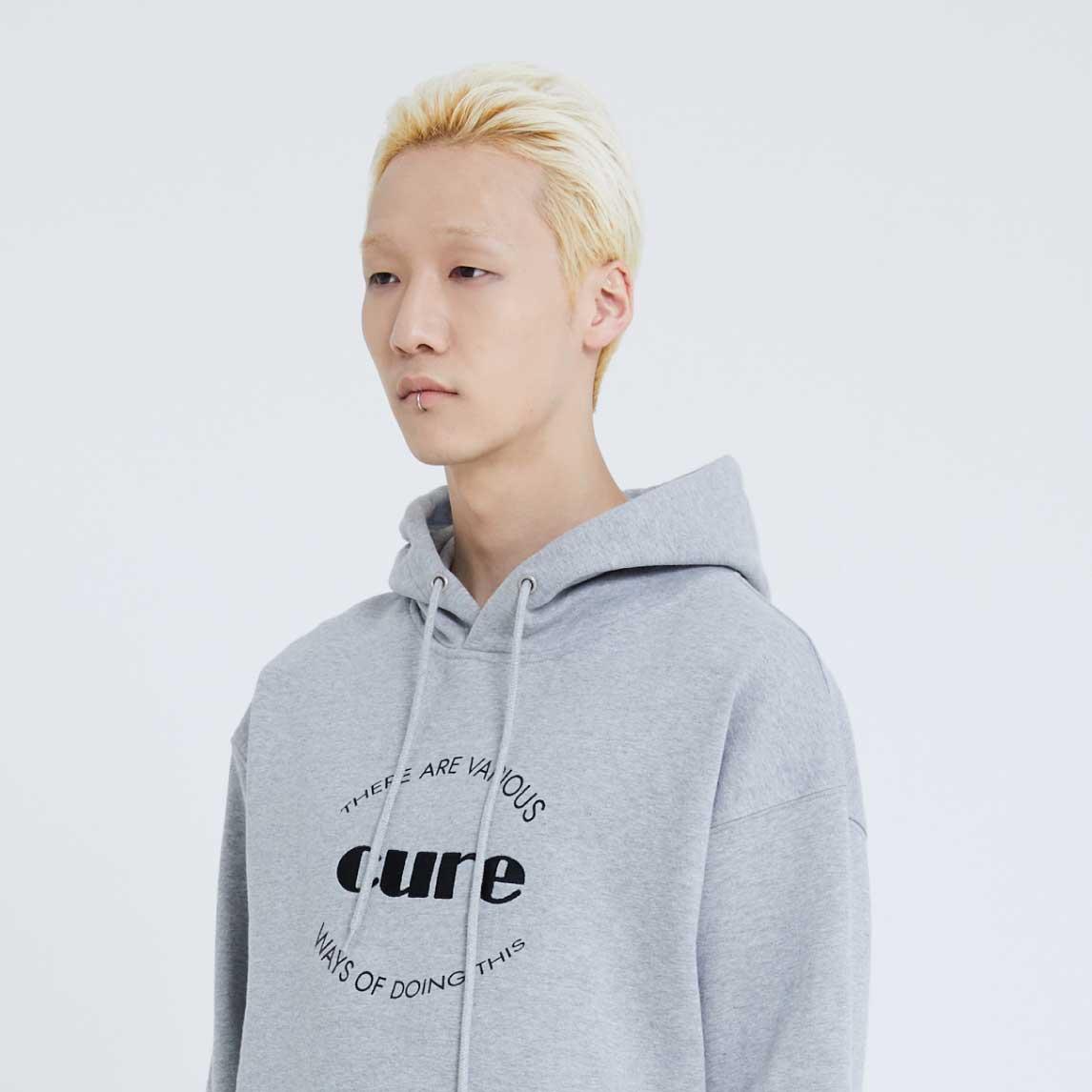 Cure Logo Hoodie(Grey)