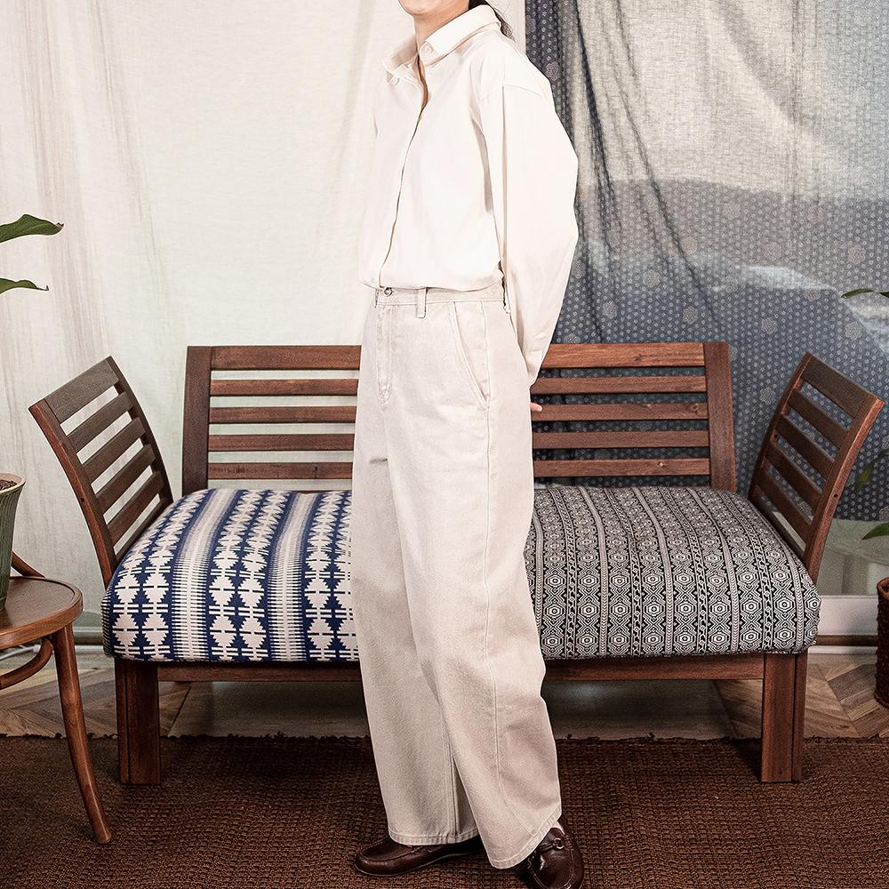 Pigment Denim Pants - Ecru