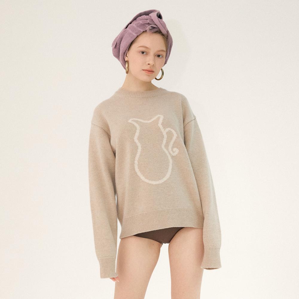 carafe cashmere wool knit (beige)