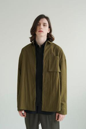 사이드벤트 셔츠자켓 (올리브 카키)