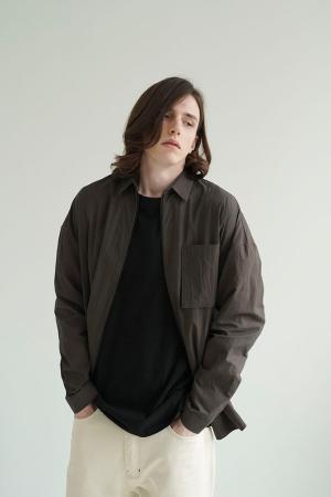 사이드벤트 셔츠자켓 (애쉬 브라운)