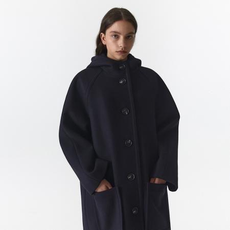HOODED COAT WOMEN JA [DARK NAVY]