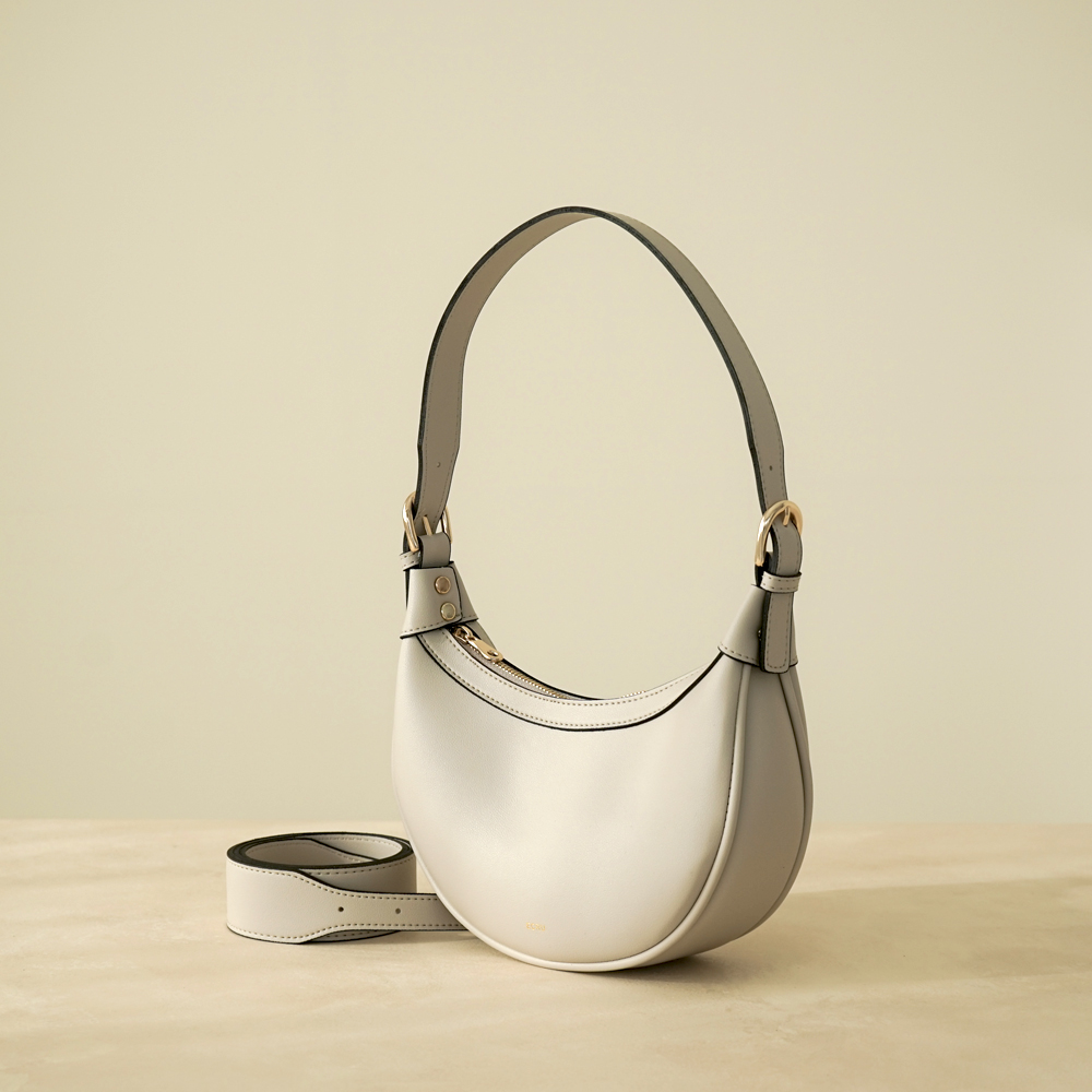 HALF MOON BAG - PALE STONE