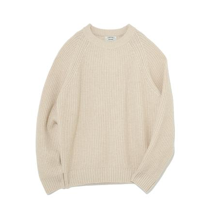 Wool Crew Neck Knit(Oatmeal)