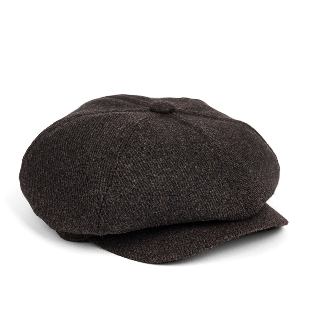LB HEAVY TWILL NEWSBOY CAP (dark brown)