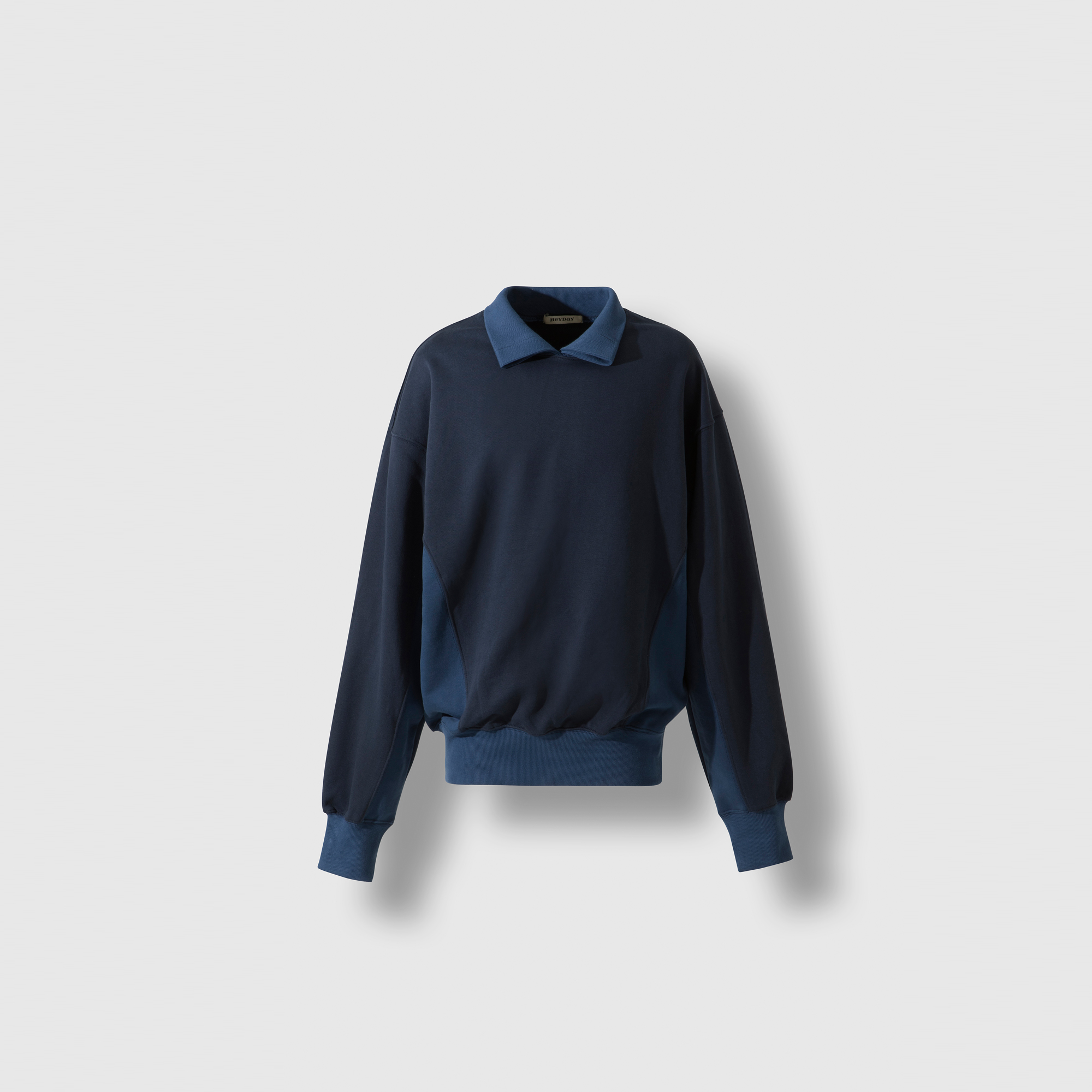 Reversible polo sweatshirts blue/navy