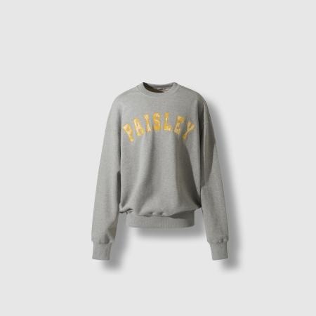 Paisely fabric arch logo sweatshirts grey/yellow
