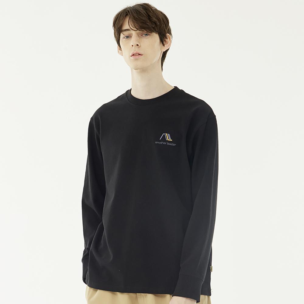 베이직 라운드넥 로고 티셔츠 (블랙)