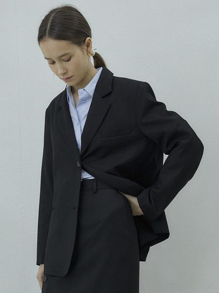 [언에디트] GR_basic single jacket BK