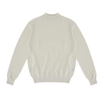 Wool soft Moc-Neck knit (Ivory)