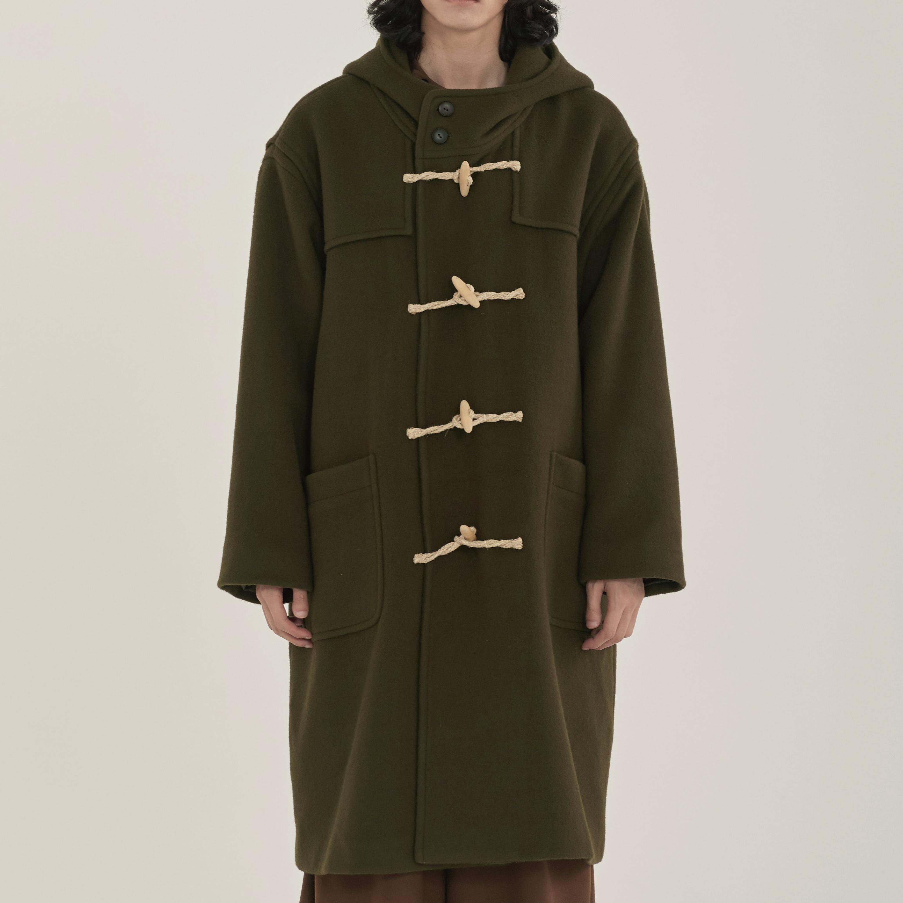 unisex duffle coat khaki