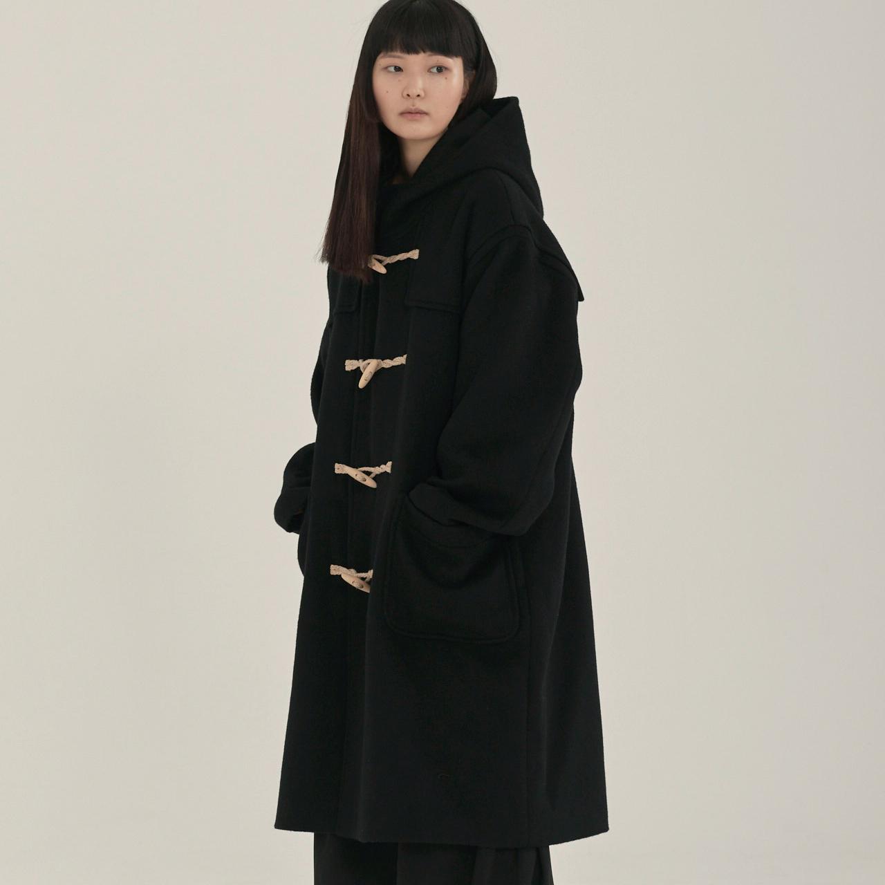 unisex duffle coat black