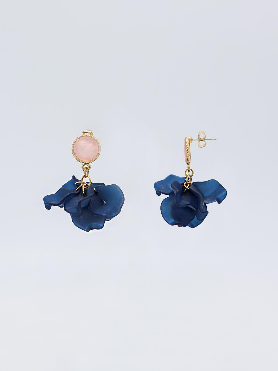 [유니제이] Pansy Flower Earring Je103 [Gold]