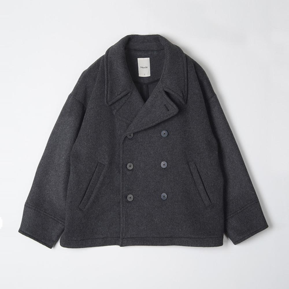 Oversized Pea Coat Grey