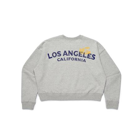 Five Crop Sweat Crew / Grey