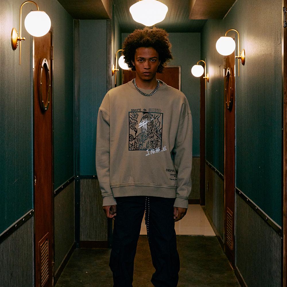 [UNNORM] 'Depression' Swatshirts (beige)