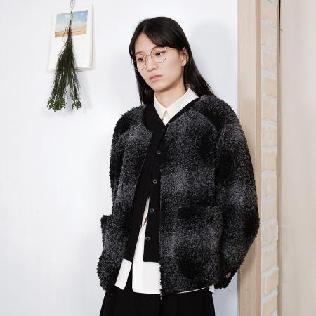 Dumble Fleece Check Jacket - Check Charcoal