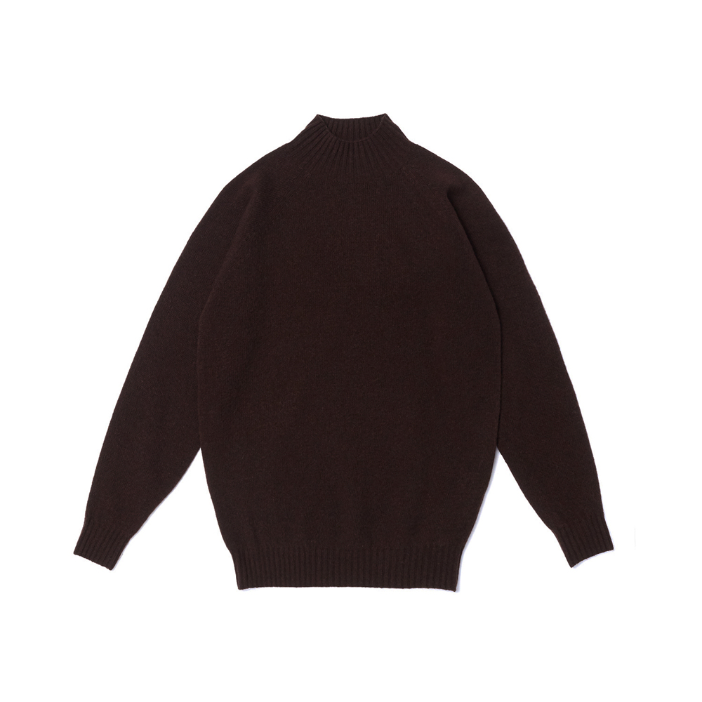 Whole Garment Mockneck_Brown