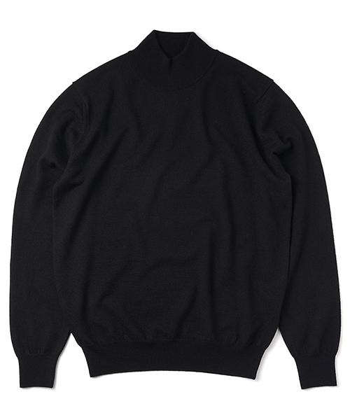 Mock-neck_knit Black