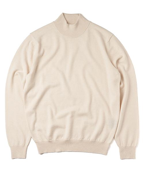 Mock-neck_knit Ivory