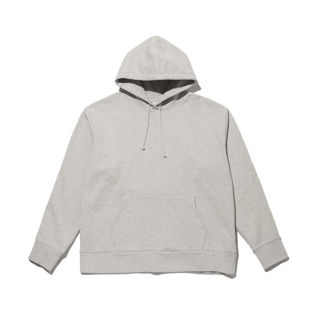Cotton Pullover Hoodie(Light Grey)