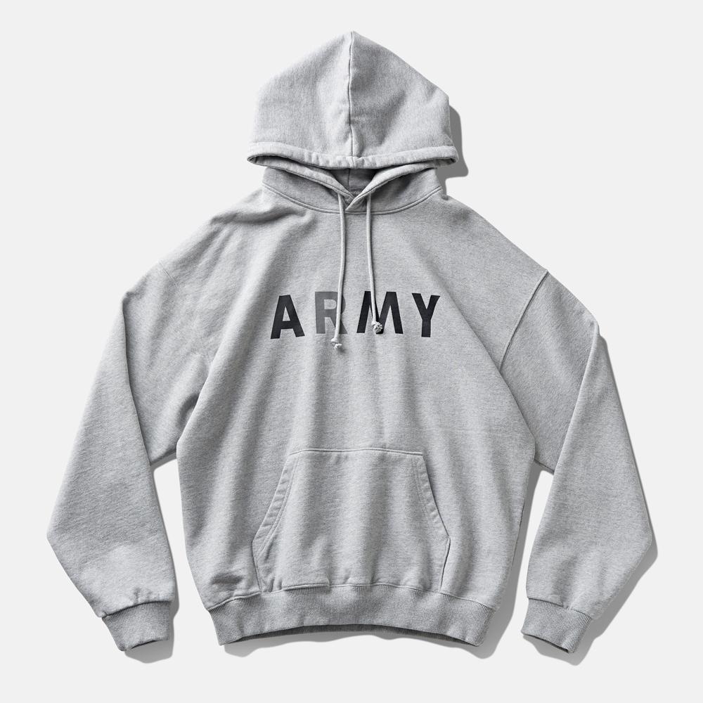 DTR1956 90s ARMY Hoodie Melange Grey