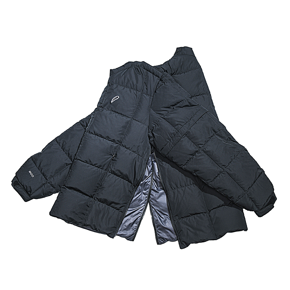 DETACHABLE GOOSE DOWN PULLOVER(BLACK)