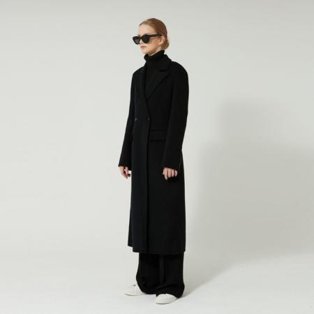 Handmade Cashmere jenny Long Coat (Black)