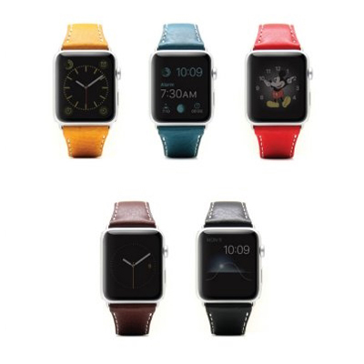 [SLG디자인]D6 Italian Minerva Box Leather Strap For Apple Watch 1to4 38/40mm 5색상